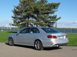 2014 Mercedes-Benz E250 BlueTEC Silver rear side view