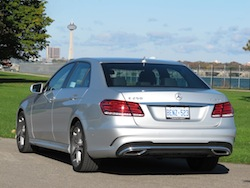 2014 Mercedes-Benz E250 BlueTEC Silver rear