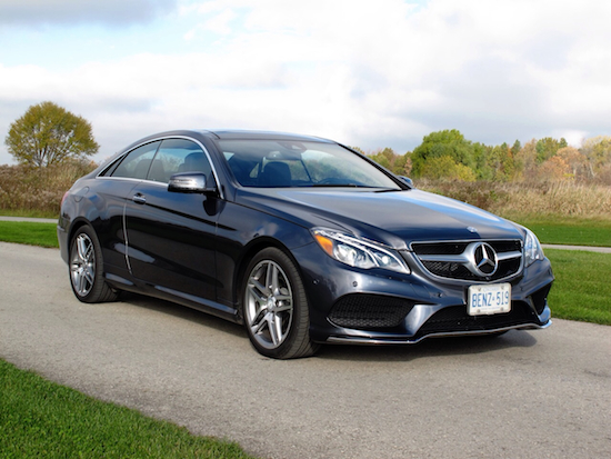 2014 Mercedes-Benz E350 Coupe Gray front side view