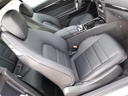 2014 Mercedes-Benz E350 Coupe Gray front seats legroom