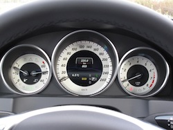 2014 Mercedes-Benz E350 Coupe Gray gauges tachometer speedometer display