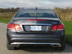 2014 Mercedes-Benz E350 Coupe Gray rear badge exhausts badge lights
