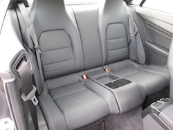 2014 Mercedes-Benz E350 Coupe Gray rear seats leather legroom
