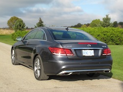 2014 Mercedes-Benz E350 Coupe Gray rear taillights exhausts