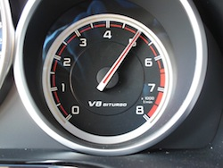 2014 Mercedes E63 AMG S White tachometer display red line
