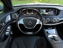 2014 Mercedes-Benz S550 Silver interior dashboard with center console