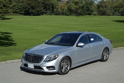 2014 Mercedes-Benz S550 Silver front side top view angle