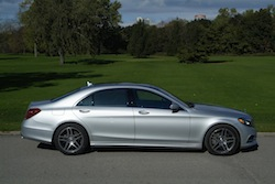 2014 Mercedes-Benz S550 Silver side view rims wheels