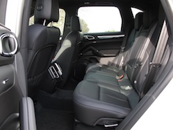 2014 Porsche Cayenne Diesel White rear seat interior space legroom