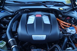 2014 Porsche Panamera S E-Hybrid Black v6 engine bay