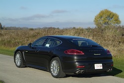 2014 Porsche Panamera S E-Hybrid Black rear side view field