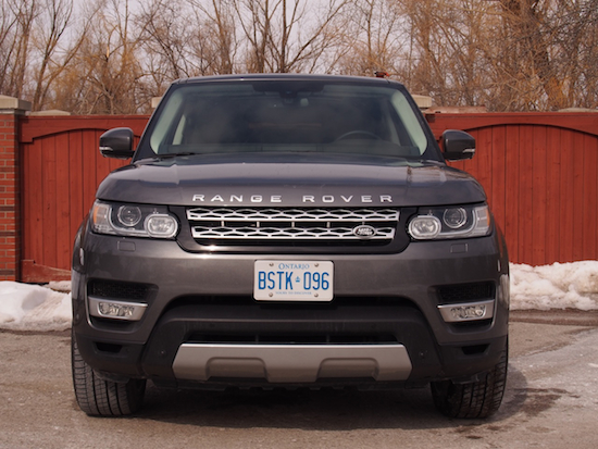 2014 Range Rover Sport Front Fascia View Gray