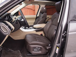 2014 Range Rover Sport front seats