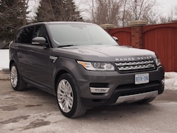 2014 Range Rover Sport Front Side View Gray