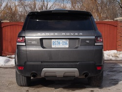 2014 Range Rover Sport Rear View gray