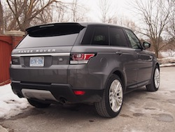 2014 Range Rover Sport Rear Side View gray