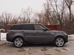 2014 Range Rover Sport Side View gray