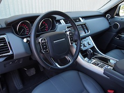 2014 Range Rover Sport V8 Supercharged Indus Silver steering wheel