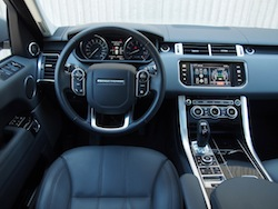 2014 Range Rover Sport V8 Supercharged Indus Silver interior