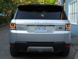 2014 Range Rover Sport V8 Supercharged Indus Silver rear