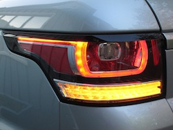 2014 Range Rover Sport V8 Supercharged Indus Silver rear taillights