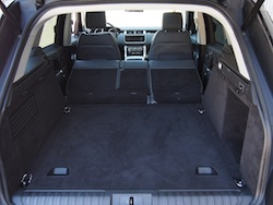 2014 Range Rover Sport V8 Supercharged Indus Silver trunk seats folded