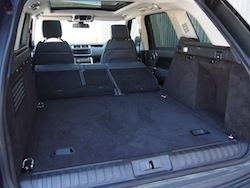 2014 Range Rover Sport V8 Supercharged Indus Silver storage space folded