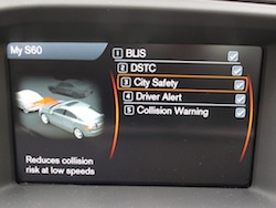 2014 Volvo S60 T6 AWD city safety detector