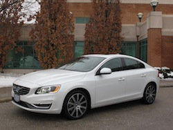 2014 Volvo S60 T6 AWD front side view white