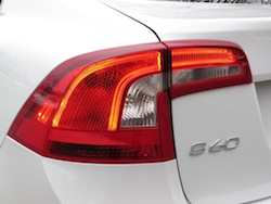2014 Volvo S60 T6 AWD white rear lights taillights