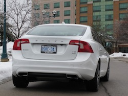 2014 Volvo S60 T6 AWD rear view white