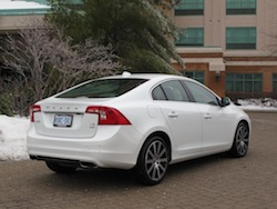 2014 Volvo S60 T6 AWD white rear view