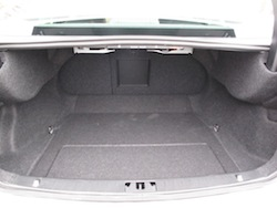 2014 Volvo S60 T6 AWD trunk space white
