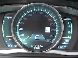 2014 Volvo XC60 T6 AWD eco gauge instrument cluster
