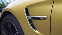 2015 BMW M4 Coupe Austin Yellow fender grill