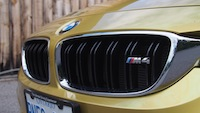 2015 BMW M4 Coupe Austin Yellow front grill badge