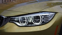 2015 BMW M4 Coupe Austin Yellow LED headlights