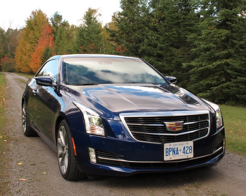 2015 Cadillac ATS Coupe Blue front side