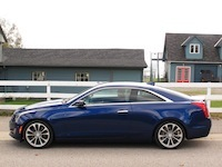 2015 Cadillac ATS Coupe side profile view