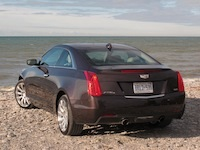 2015 Cadillac ATS Coupe brown exhaust