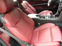 2015 Cadillac ATS Coupe red leather seats