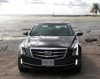 2015 Cadillac ATS Coupe on the beach