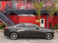 2015 Cadillac ATS Coupe grey side