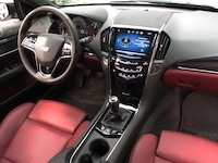 2015 Cadillac ATS Coupe black red interior leather