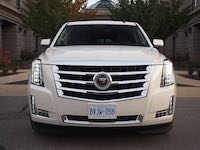 2015 Cadillac Escalade ESV white front tower led head lamps