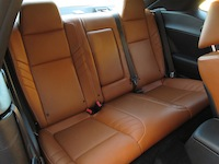 2015 Dodge Challenger SRT Hellcat rear leather seats