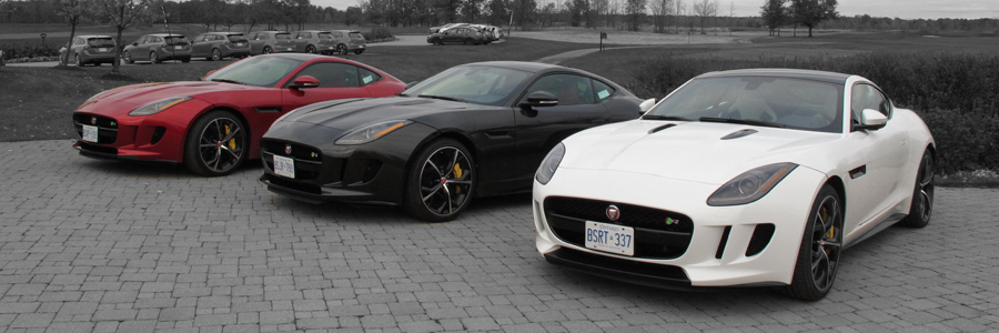 2015 Jaguar F-Type R Coupe red black and white