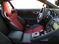 2015 Jaguar F-Type R Coupe front sport red seats