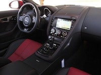 2015 Jaguar F-Type R Coupe interior red steering wheel
