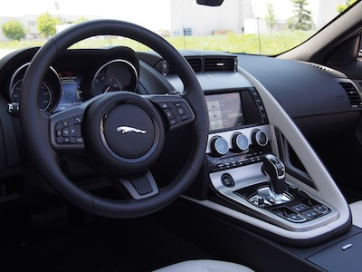 2015 Jaguar F-Type V6 Convertible interior leather dashboard